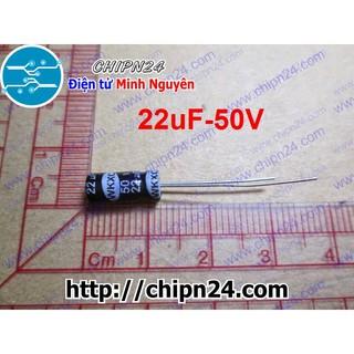 [25 CON] Tụ hóa 22uF 50V đen 5x11mm thumbnail
