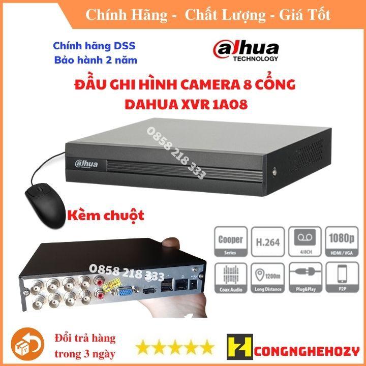 Đầu camera ghi hình 8 kênh XVR Dahua  chính hãng DSS bảo hành 2 năm