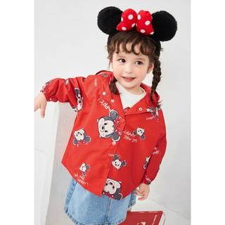 Áo khoác màu đỏ hình chuột Mickey Balabala dành cho bé gái - 210532002030363