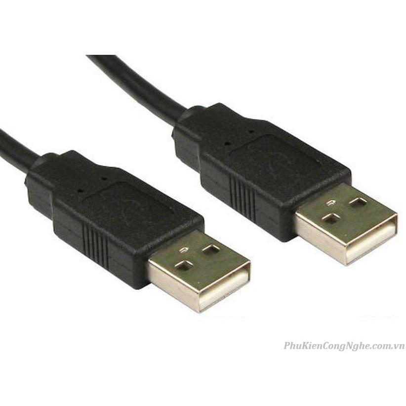 Cáp USB Hai Đầu Đực 1.5M (màu đen) Giá chỉ 25.000₫