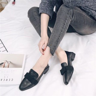 Giày moca nữ đế bệt (CÓ CLIP THẬT SẢN PHẨM) đen và nâu tây chuẩn size dễ phối đồ. Giày loafer mới có sẵn, đủ size