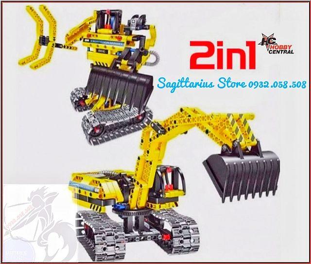 Lego Lắp Ráp Xe Công Trình 2 in 1 ( 342 Mảnh ) - Vừa ráp xe vừa có thể...