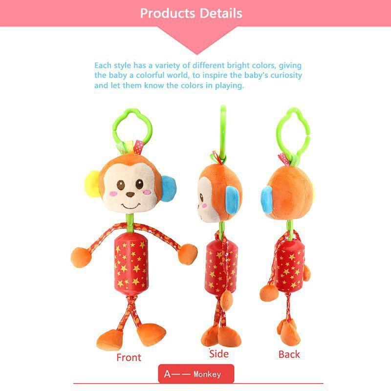 Baby Stroller Hanging Toys Crib Ring Rattle