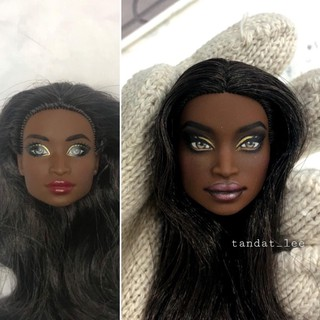 Head búp bê Barbie face up