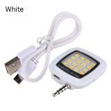 Đèn flash 16 led giắc 3.5 cho điên thoại Fourtech (Trắng)