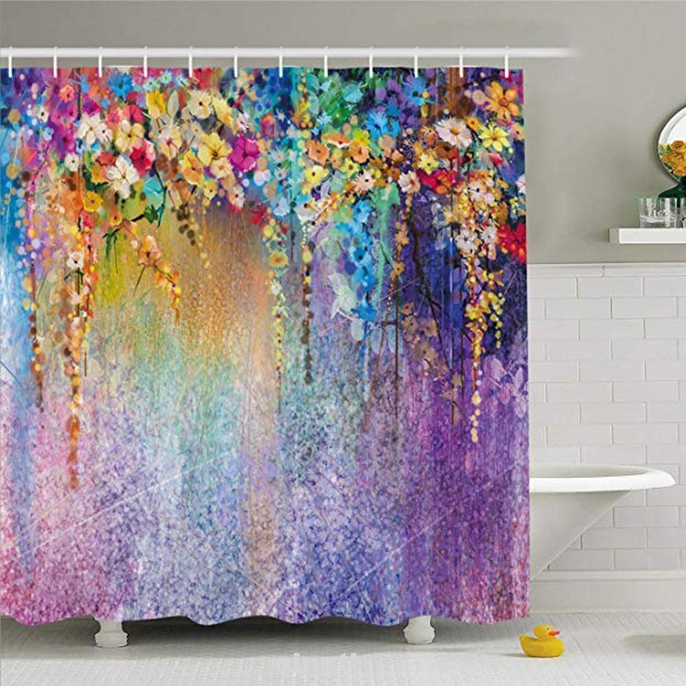 Rèm Phòng Tắm Chống Nấm Mốc Họa Tiết Hoa