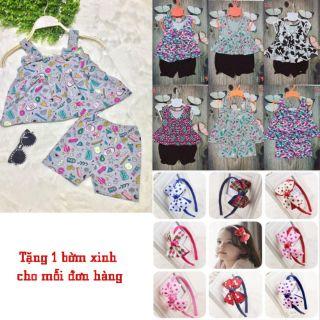 Bộ quần áo bé gái BBG10(1-5) tặng 1 bờm nơ cho mỗi đơn hàng Song An Eco