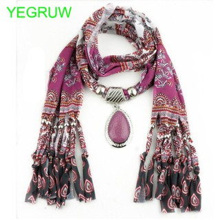 New Style Purple Hot Best Sell Fashion Pendant Scarf with Tassel