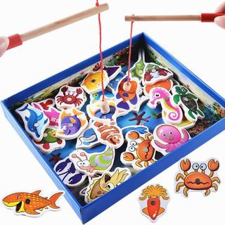 Bộ câu cá gỗ 32 con sinh vật biển