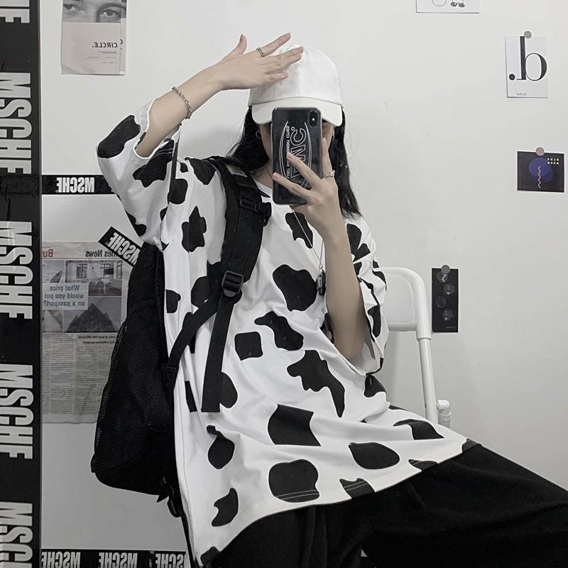 Áo thun bò sữa tay lỡ, form rộng Unisex ATLBO
