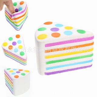 ♧ZERUI♧ Squishy Kawaii Fragrant Triangular Rainbow Cake Design Slow Rising 5 Seconds