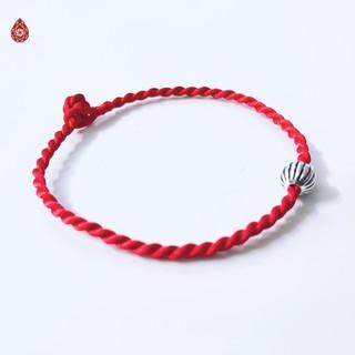 Vòng tay chỉ đỏ mix bi bạc 925 may mắn - Ngọc Quý