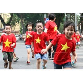 xưởng sỉ áo cờ đỏ sao vàng trẻ em