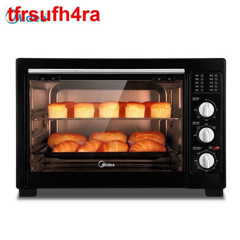 Lò nướng điện gia dụng Midea nhỏ tự động đa chức năng bánh bông lan để bàn dung tích lớn 38L