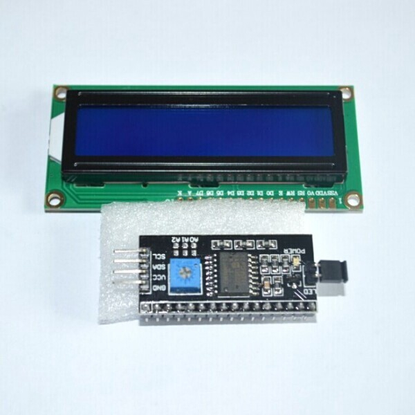 5PCS/LOT 1602 16x2 HD44780 Character LCD /w IIC/I2C Serial Interface Adapter Module