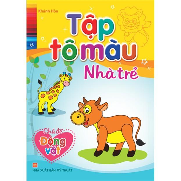 Sách - Tập tô màu Nhà trẻ - Chủ đề Động vật