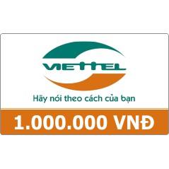 Thẻ cào Viettel 1 triệu , thẻ nạp Viettel , card điện thoại Viettel , thẻ Viettel , nạp tiền Viettel