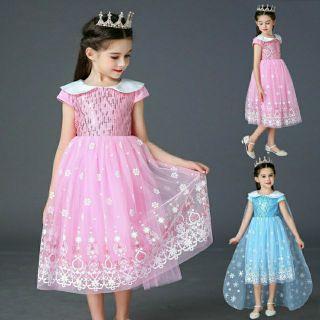 Váy Công Chúa Elsa Tà Dài Cao Cấp Mẫu Mới 2020 (Tà có thể tháo rời)