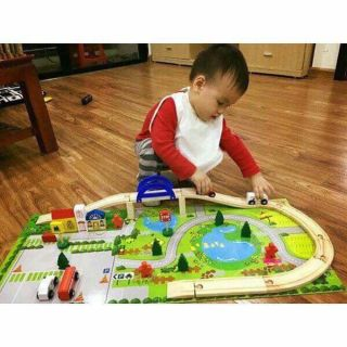 Bộ đồ chơi lắp ghép mô hình thành phố bằng gỗ tự nhiên – đồ chơi cho bé bằng gỗ tự nhiên
