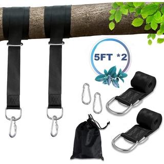 Bộ 2 dây treo võng hai 5ft dài 2000lbs chống thấm nước dễ dàng mang theo khi đi cắm trại ngoài trời