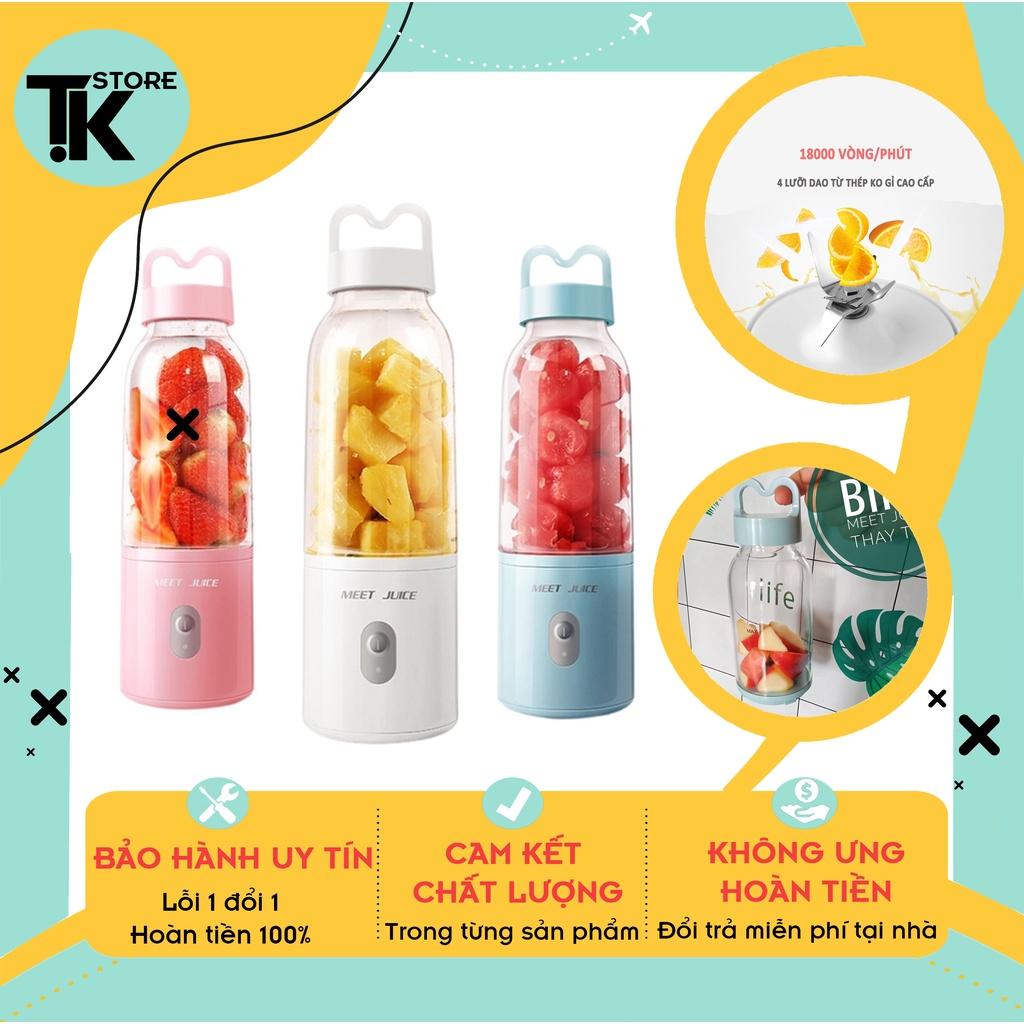 [Hàng Chính Hãng] Máy xay sinh tố cầm tay Meet Juice, máy xay Meet Juice mini cầm tay cao cấp- Bảo Hành 12 Tháng