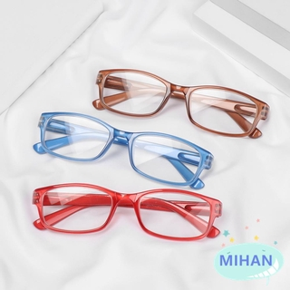 MIHAN1 Unisex Reading Glasses Vision Care PC Frames Presbyopic Glasses Portable Ultralight High-definition +1.00~+4.00 Eyeglasses/Multicolor