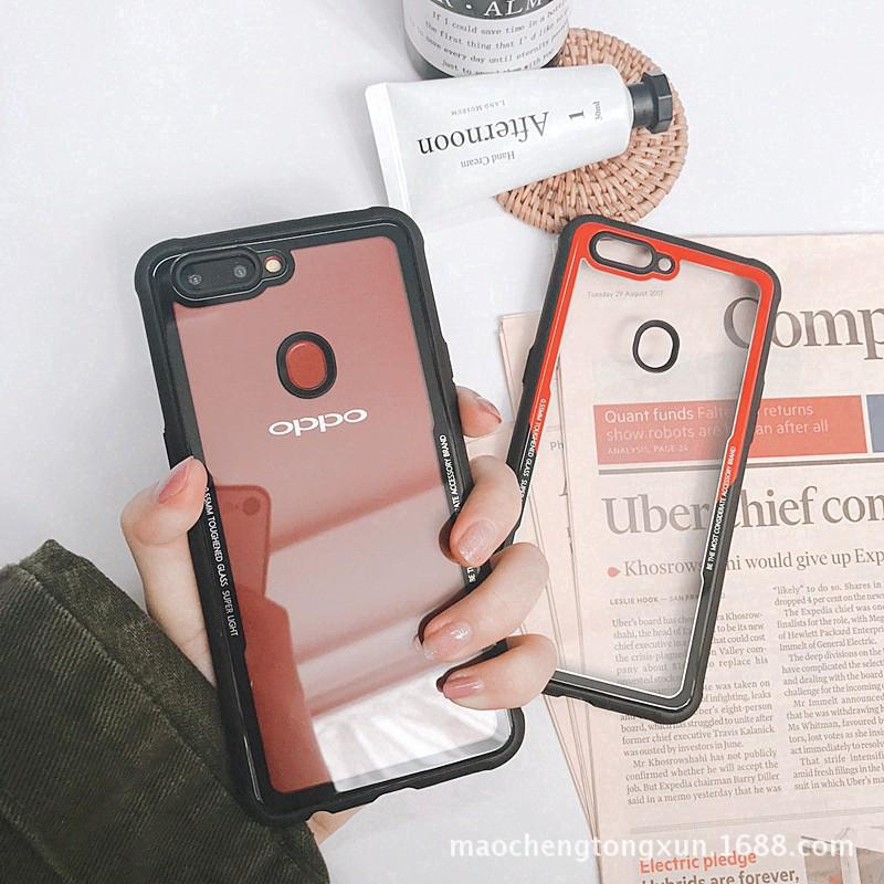 OPPO F9 Case Acrylic Transparent Protective Cover