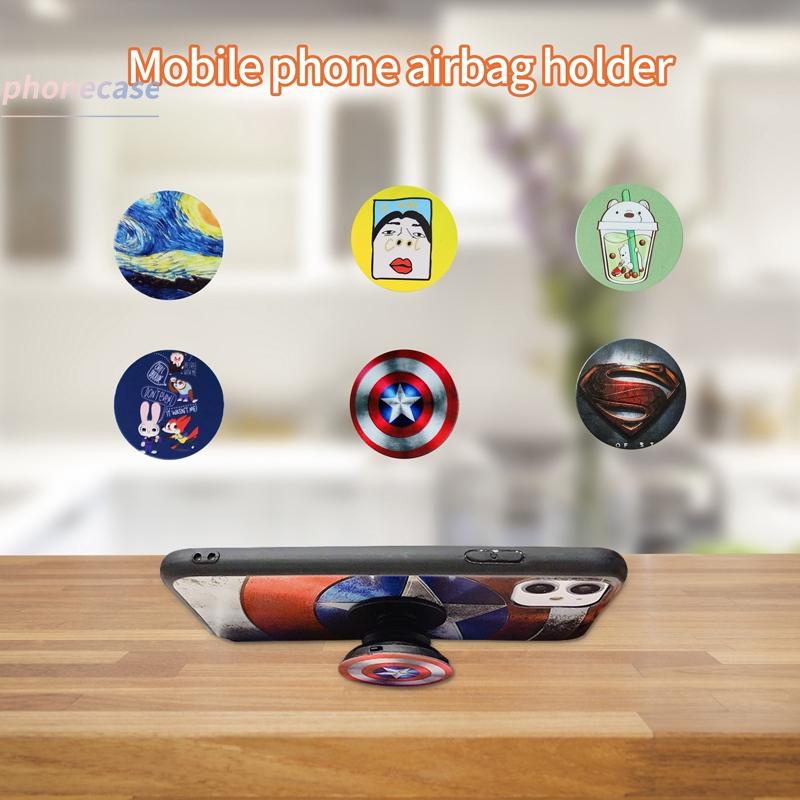 Ốp điện thoại họa tiết hoạt hình thời trang có giá đỡ dành cho cặp đôi