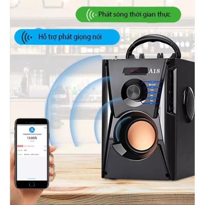 ✔️ Loa Karaoke Bluetooth Xách Tay A18 Chuyên Nghiệp, Âm Thanh Chất Lượng, Bass Trầm, Giá Siêu Rẻ [Bảo Hành 1 Đổi 1]