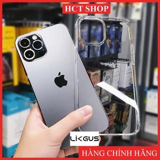 Ốp lưng Trong Suốt Lưng Kính Chính Hãng LIKGUS Cho iPhone 6Plus 7Plus 8Plus Xsmax 11Promax 12Promax thumbnail