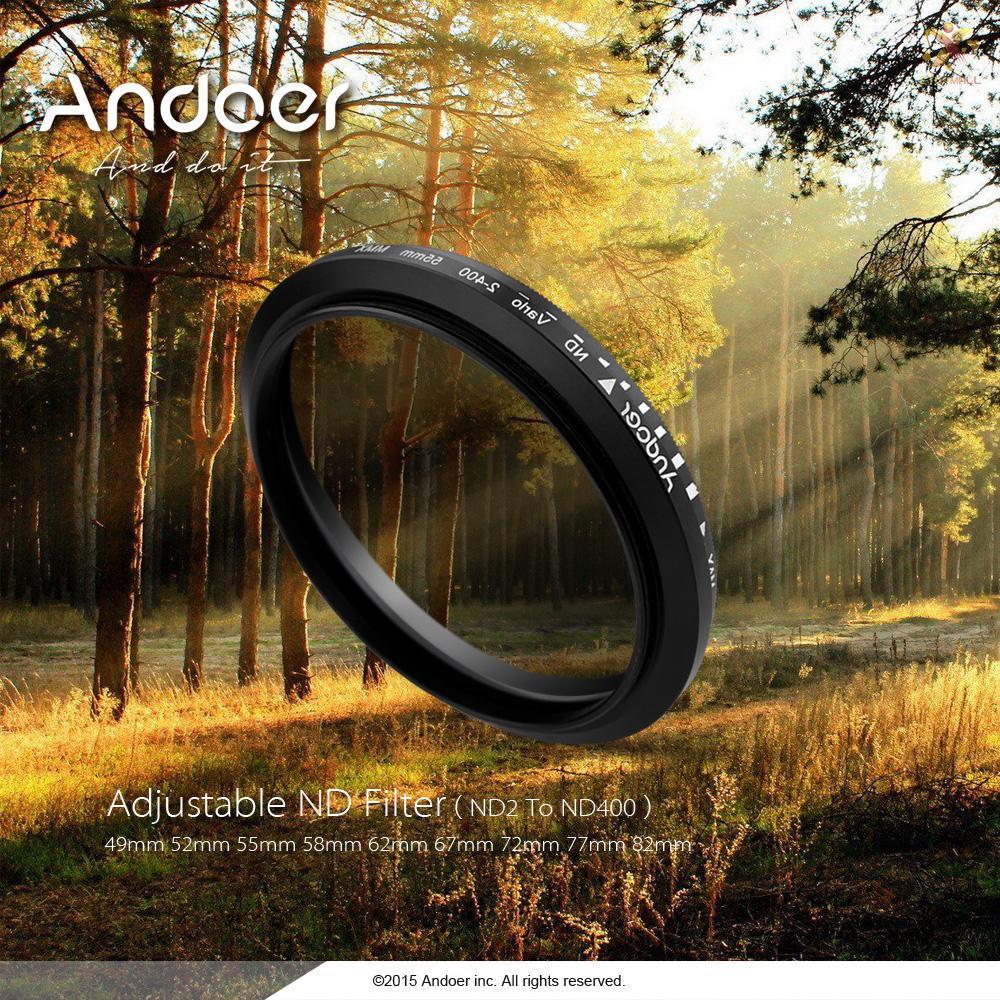 Kính Lọc Nd2 Andoer 67mm Cho Máy Ảnh Dslr