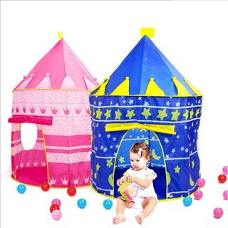 Portable Folding Kids Play Tent – Castle Cubby House