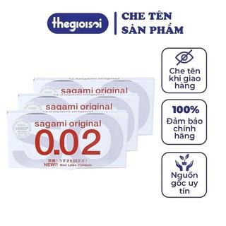 Bcs Sagami 002 bao cao su siêu mỏng 3 hộp 2c không mùi nhiều gel bôi trơn có che tên sản phẩm khi giao - thegi thumbnail
