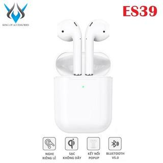 [Mã ELFLASH5 giảm 20K đơn 50K] Tai nghe Bluetooth True Wireless Hoco ES39 Original series V5.0 (Trắng)
