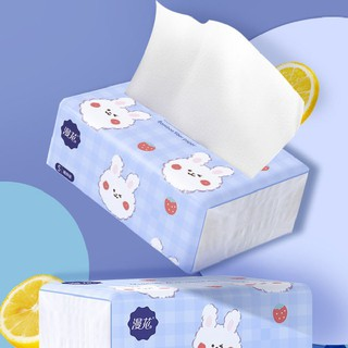 Hộp 40 Bịch giấy ăn hình thỏ xinh xắn siêu dai, siêu mềm mịn