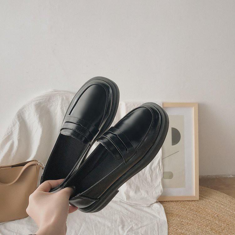 [Sẵn] Giày loafer da mềm
