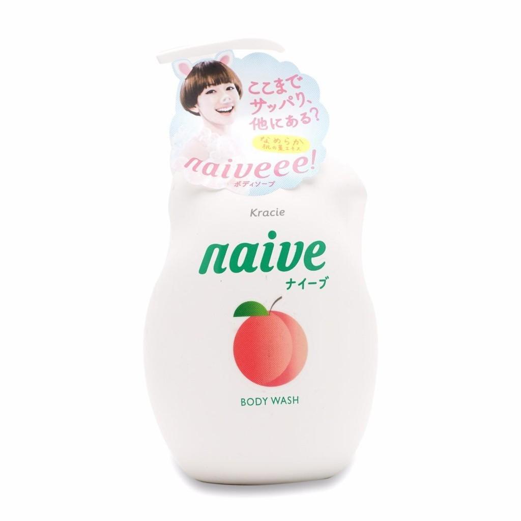Sữa tắm Naive 530ml hương đào (japan)