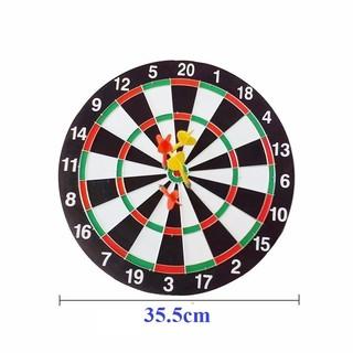 Bảng phi tiêu gỗ đường kính 35.5cm, 02 mặt, 06 phi tiêu đi kèm (15 inches) , hàng cao cấp