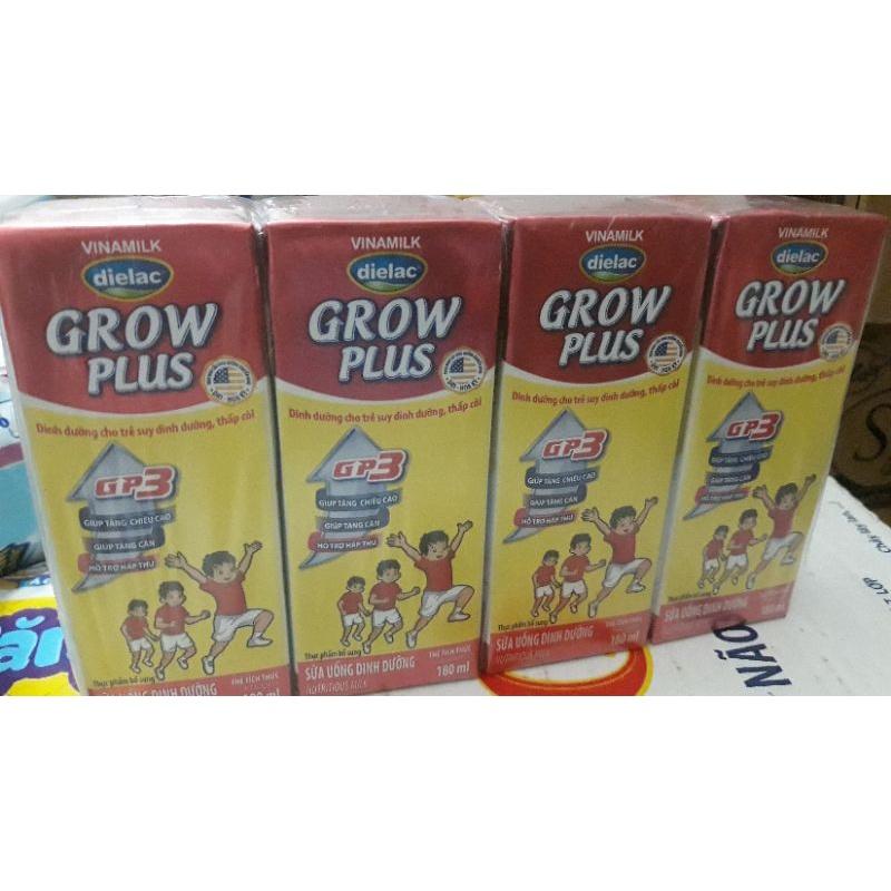Lốc 4 Hộp  Sữa Nước Pha Sẵn  Dielac  Grow Plus 180ml