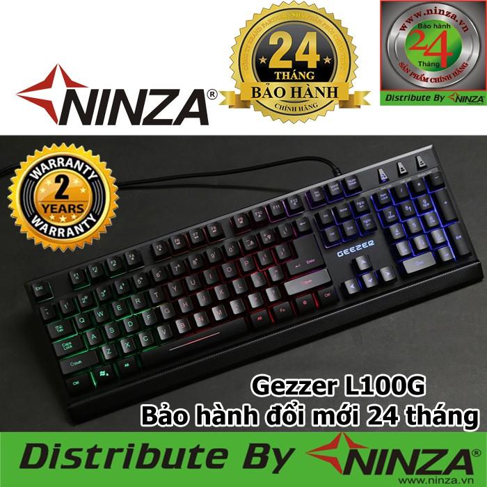 Bàn phím Giả cơ Geezer L100G Anti-ghosting 19 phím, Đèn led Rainbow xuyên chữ [Ninza Bảo hành Toàn Q
