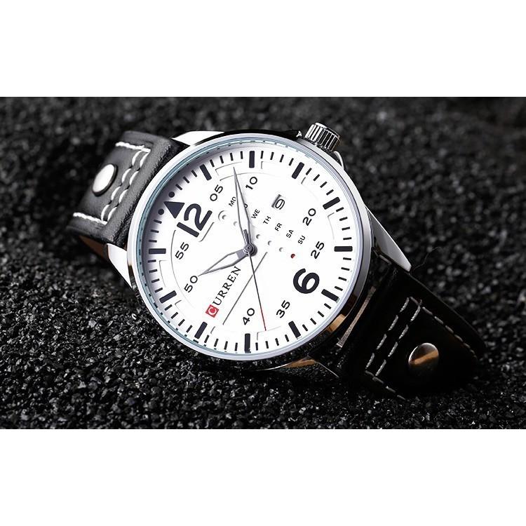 ĐỒNG HỒ NAM CURREN C8844 DÂY DA CAO CẤP +tặng pin đồng hồ