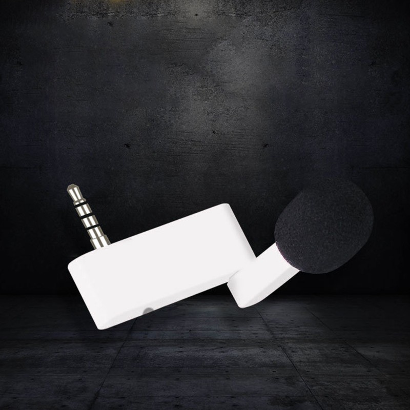 CRE  Mobile Phone Live Broadcast Microphone with Earphone Jack Omnidirectional Condenser Mic for Smartphone Recording Video