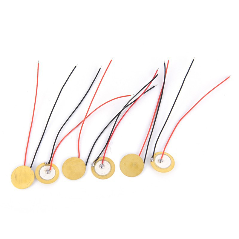 6pcs 15mm Piezoelectric Piezos Amplifiers Discs Leads For Guitar Pickup