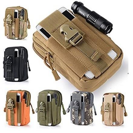 Túi đeo hông Sport waist bag cell phone camera pouch bag soldier bag h03 (Nâu lính)