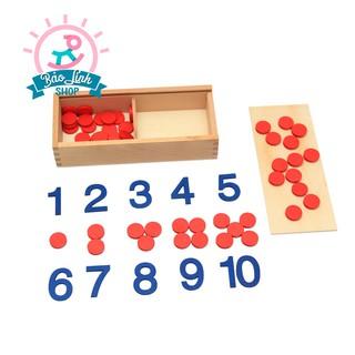 Chấm Tròn Học Đếm Montessori – BẢN ĐẸP| Giáo cụ Montessori