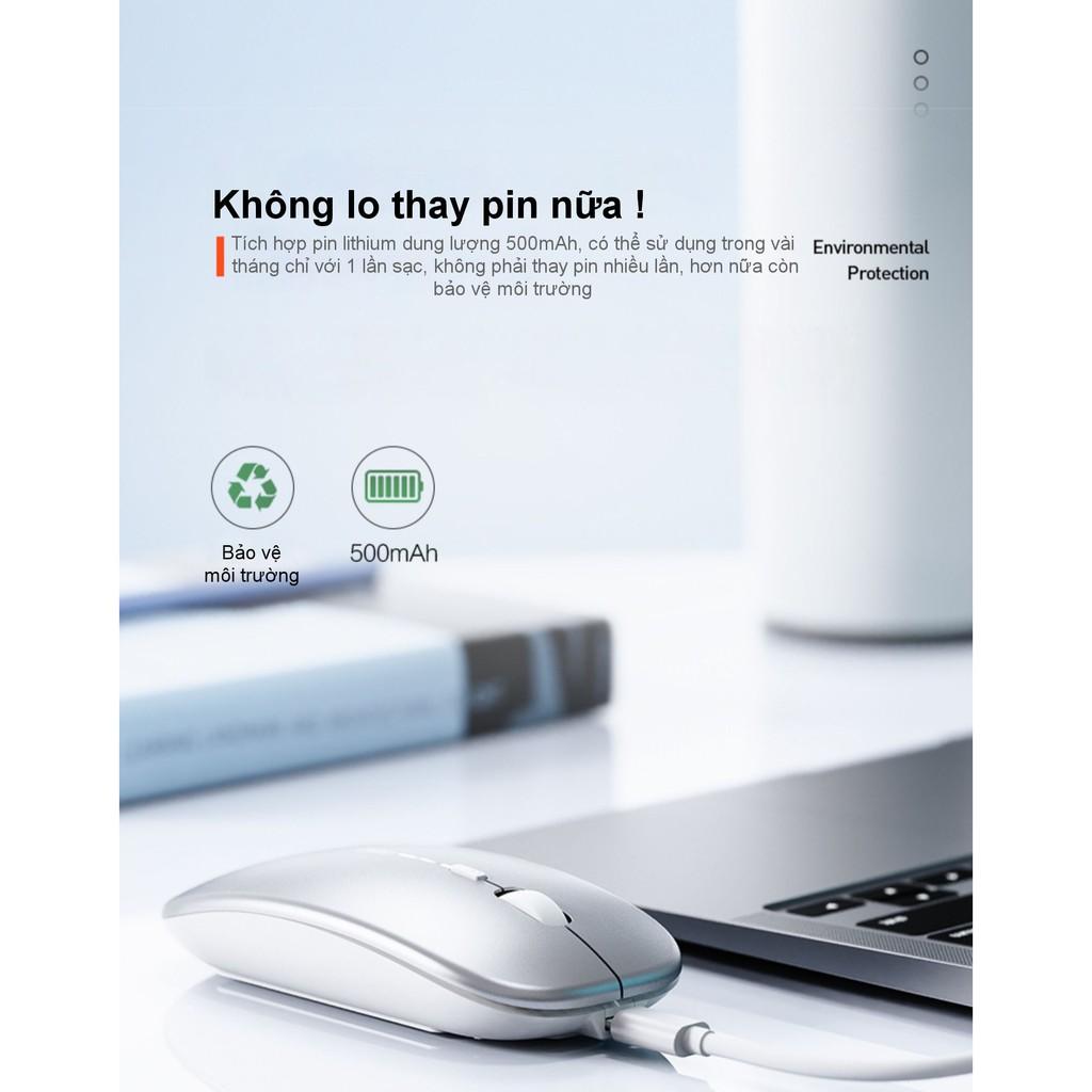 Chuột văn phòng Bluetooth + Wifi phong cách Macbook cho tất cả các dòng máy tính, smart TV, TV box... INPHIC PM1BS