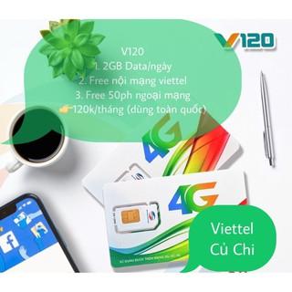 [Mã FASHIONGREEN44 giảm 10K đơn 50K]Sim 4G Viettel V120Z mới 120GB/Tháng {4GB/Ngày} free nội mạng 90K/Tháng