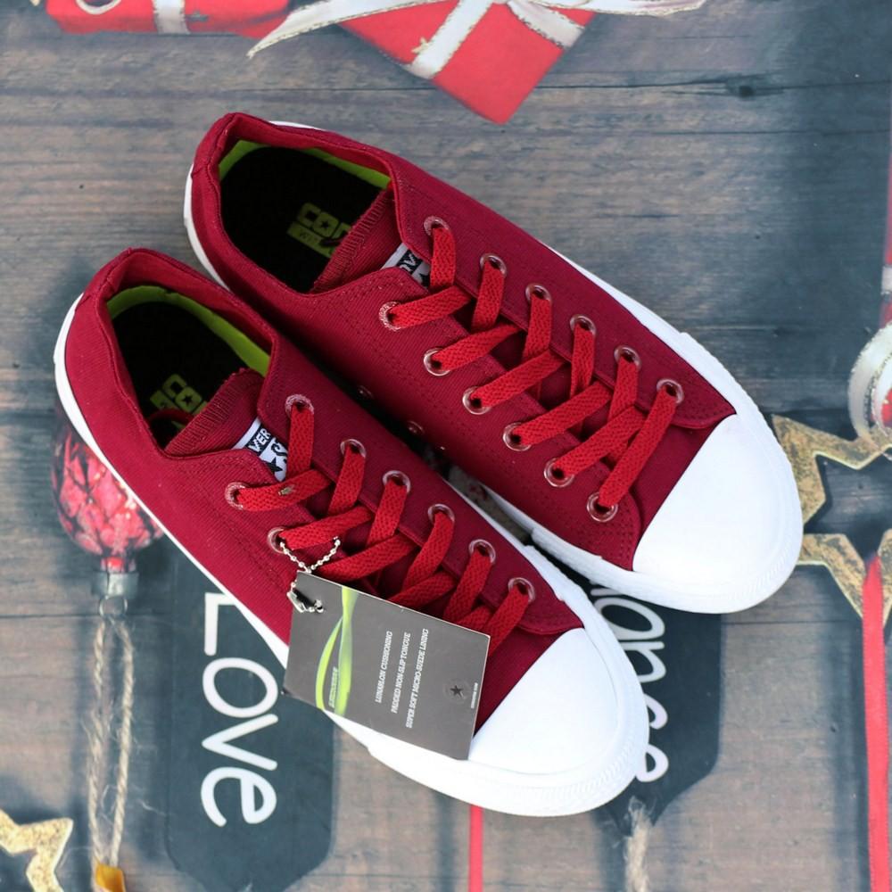 Giày Chuck 2 Nam Cổ Thấp Đỏ Mận