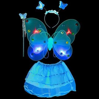 Combo 5 bộ cánh tiên có đèn vui trung thu cho bé gái xả bán