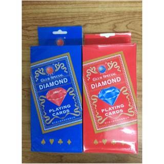 Bộ bài Tây tú lơ khơ kim cương Diamond xanh và đỏ